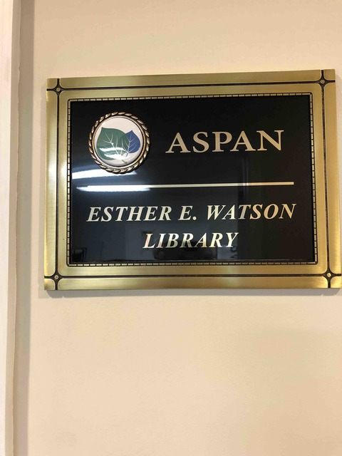 ASPAN library dedication to Esther Watson | Photo Galleries | The ...