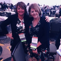 Laure Marino and Joyce Wilson attending the ANA Membership Assembly, June 2018.