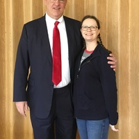 Senator Charles S. Trump with WVNA Member Crystal Chapman