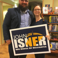 Candidate John Isner from the 59th District and Crystal Chapman