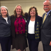 WVNA President Toni DiChiacchio & WVNA Secretary Kendra Barker met with ANA endorsed Congressman David McKinley and his wife (also a nurse) at WVU in October 2018.