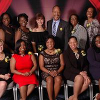 NERBNA 28th Excellence in Nursing Awardees;  Bottom Left to Right: Jocelyn Loftus, Farah Fevrin, Joann Degraff, Sherley  Belizaire, and Leonora Johnson