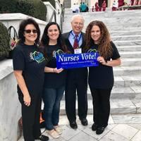 President, Aimee Duthil, Stephanie Ramirez & Grace Grau representing  Alabama's Hispanic Nurses at the capitol.
