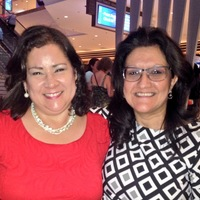 NAHN President Elect Norma Cuellar, PhD, and Grace Grau, DNP at NAHN Annual Conference. Joining forces to start Greater Birmingham Chapter.