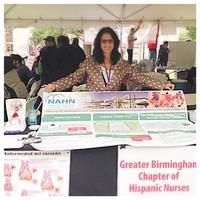 Grace Grau-Recruiting Chapter Members & Educating about heart disease at Birmingham Fiesta 2015