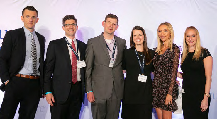 From left to right: Michael J. Hennessy, Jr., James LaBelle, MD, PhD, David Cohen, Caitlin Cohen, MSN, RN, CPNP-AC, CPHON, Giuliana Rancic, and Kristie Kahl.