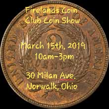 Firelands Coin Club Coin Show