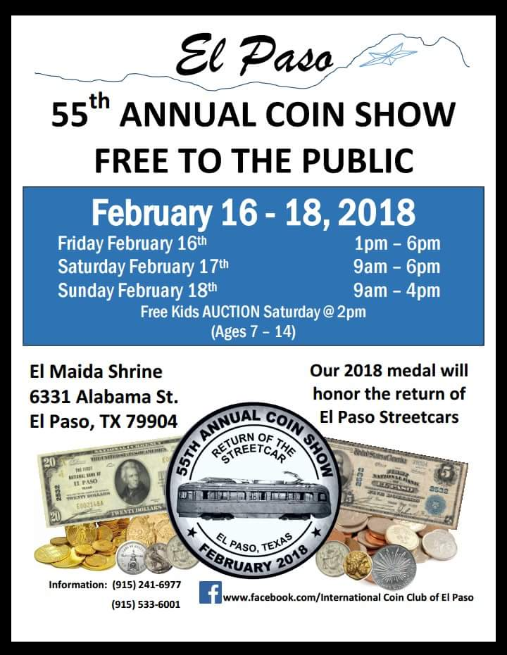 55th Annual El Paso Coin Show 2018