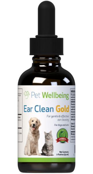 Ear Clean Gold for Dogs by Pet Wellbeing