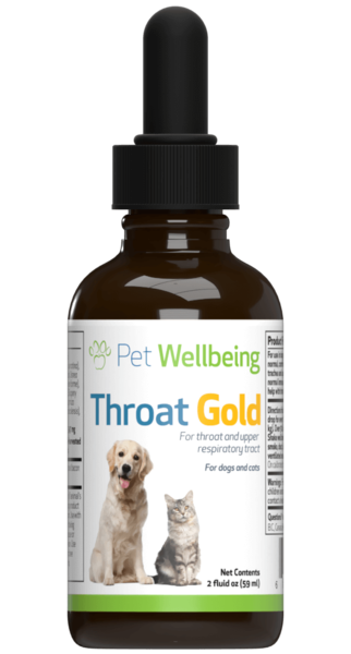 Throat Gold - Cough & Throat Soother for dogs by Pet Wellbeing