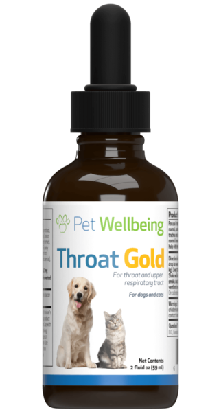 Throat Gold - Cough & Throat Soother for cats by Pet Wellbeing
