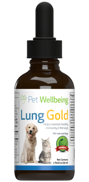 Lung Gold for cat lung infections and easy breathing by Pet Wellbeing