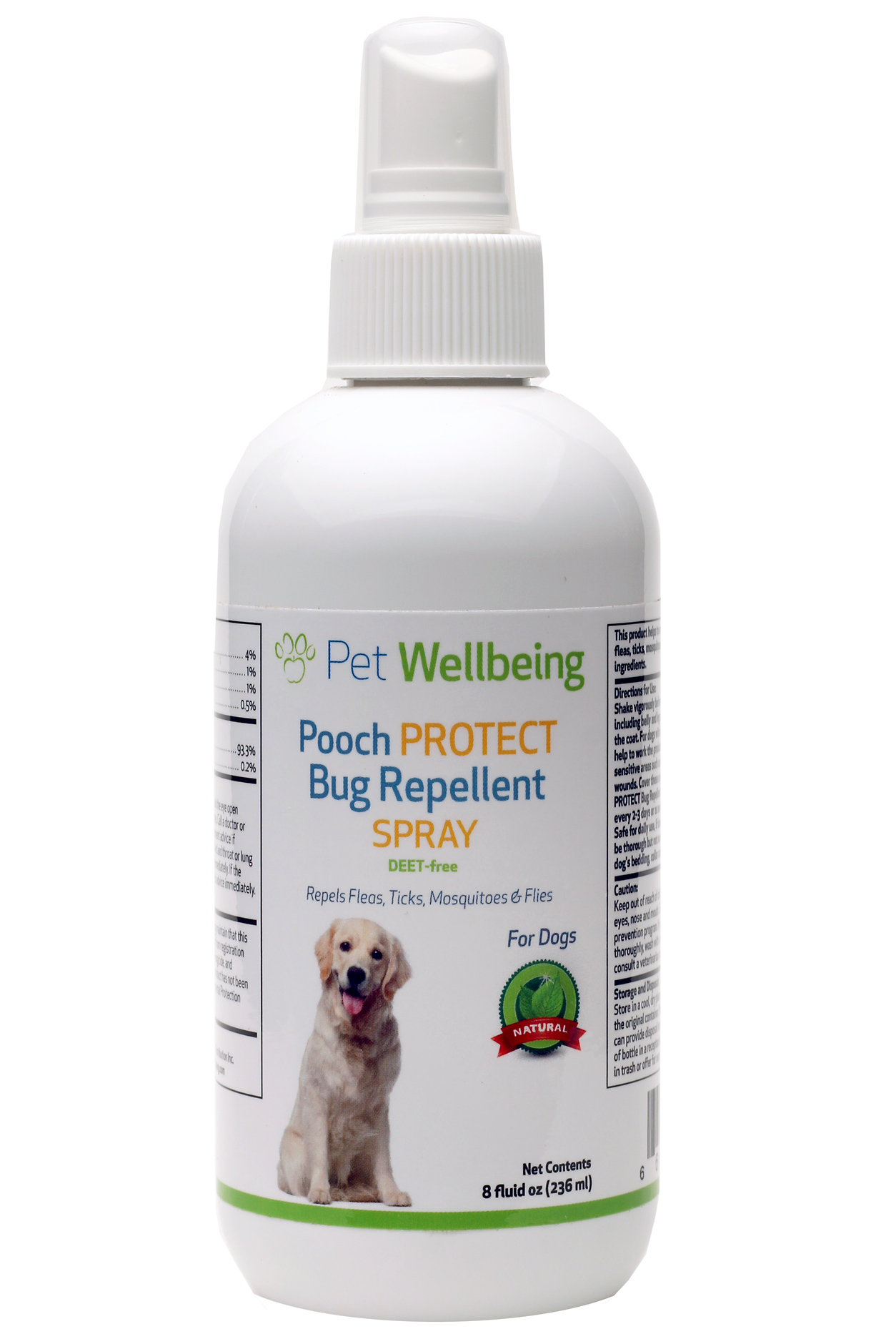 Pooch Protect Bug Repellent Spray For Dogs Petwellbeing Com
