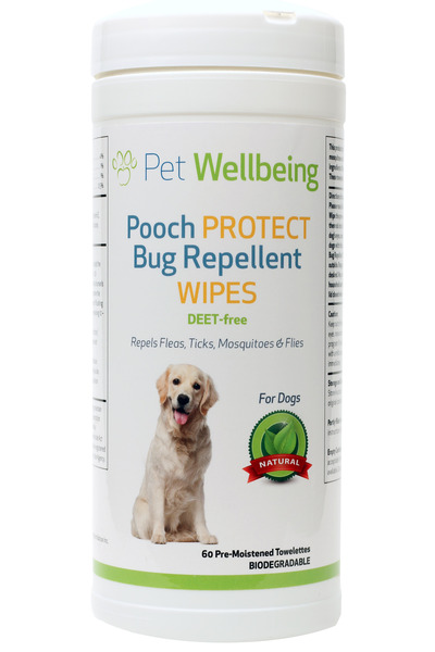Pooch Protect Bug Repellent Wipes by Pet Wellbeing