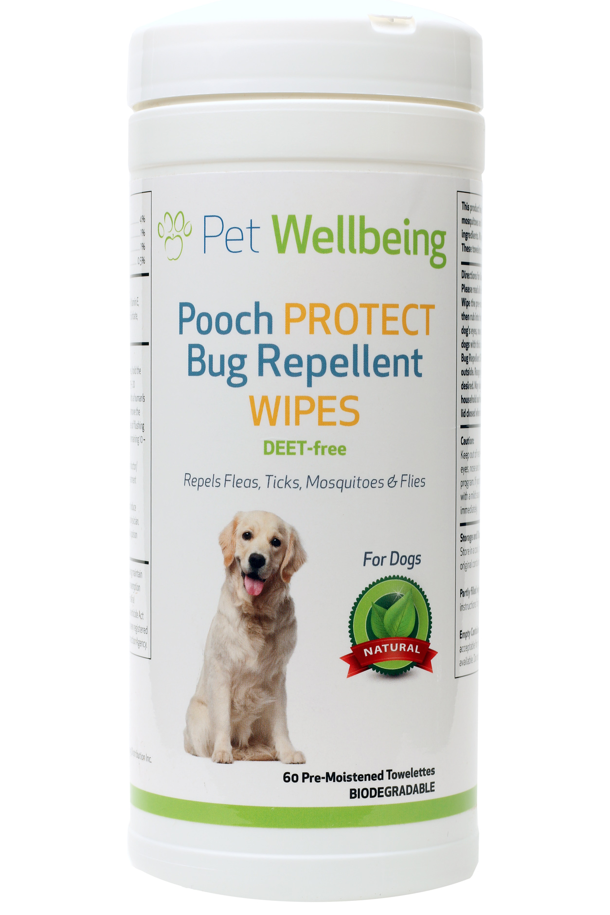 Pooch Protect Bug Repellent Wipes For Dogs Petwellbeing Com