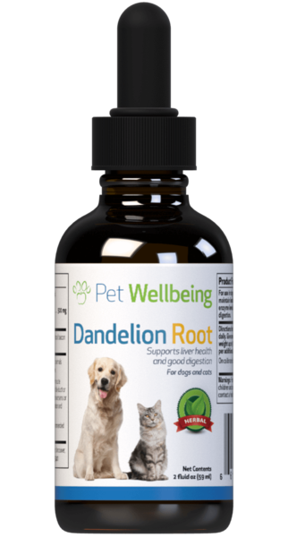 Dandelion Root for Cat Liver and Digestive Support by Pet Wellbeing