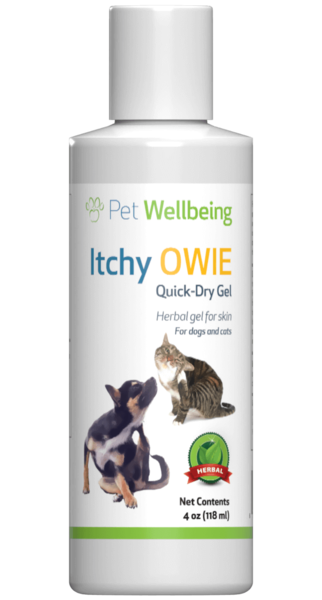 Itchy Owie Quick-Dry Gel for cat skin problems by Pet Wellbeing