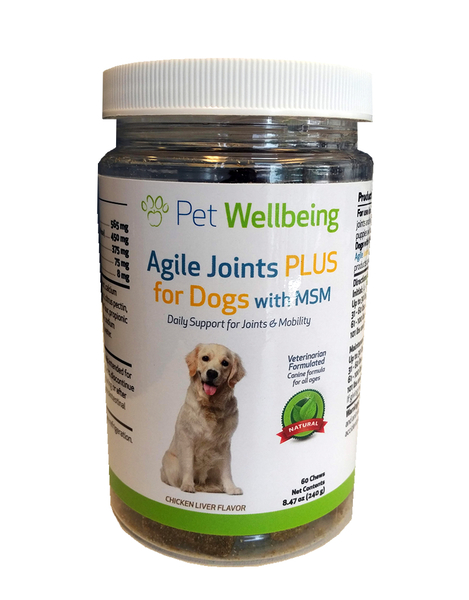 Agile Joints PLUS for Dogs with MSM by Pet Wellbeing