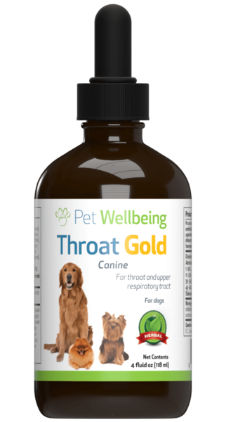 Throat Gold – Cough & Throat Soother for dogs by Pet Wellbeing