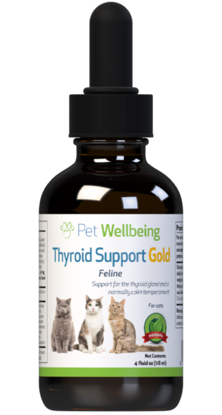 Thyroid Support Gold – Cat Hyperthyroidism Support by Pet Wellbeing