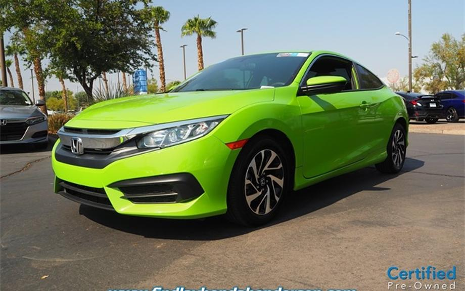 Certified 2017 Honda Civic Coupe LX-P