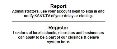 Closings | KSNT News