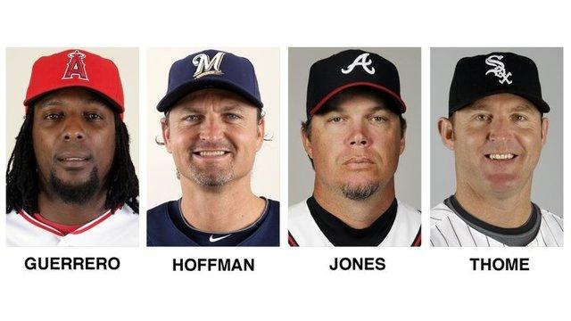 Jones, Thome, Guerrero, Hoffman elected to baseball Hall
