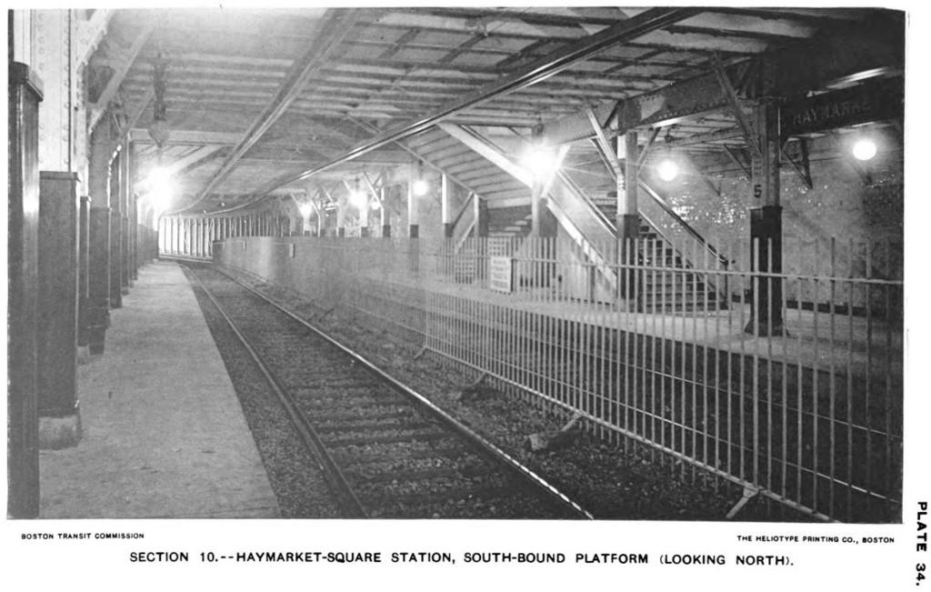1950s Mbta Elevated Subway Map.World Nycsubway Org Mbta Green Line