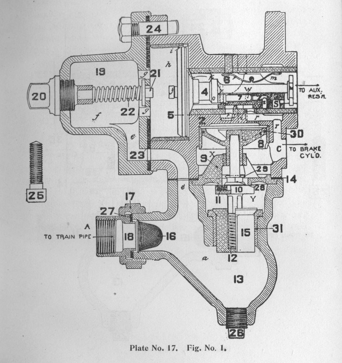 Electrical And Automatic Air Brake Equipment Brakes Schematic The Triple Valve