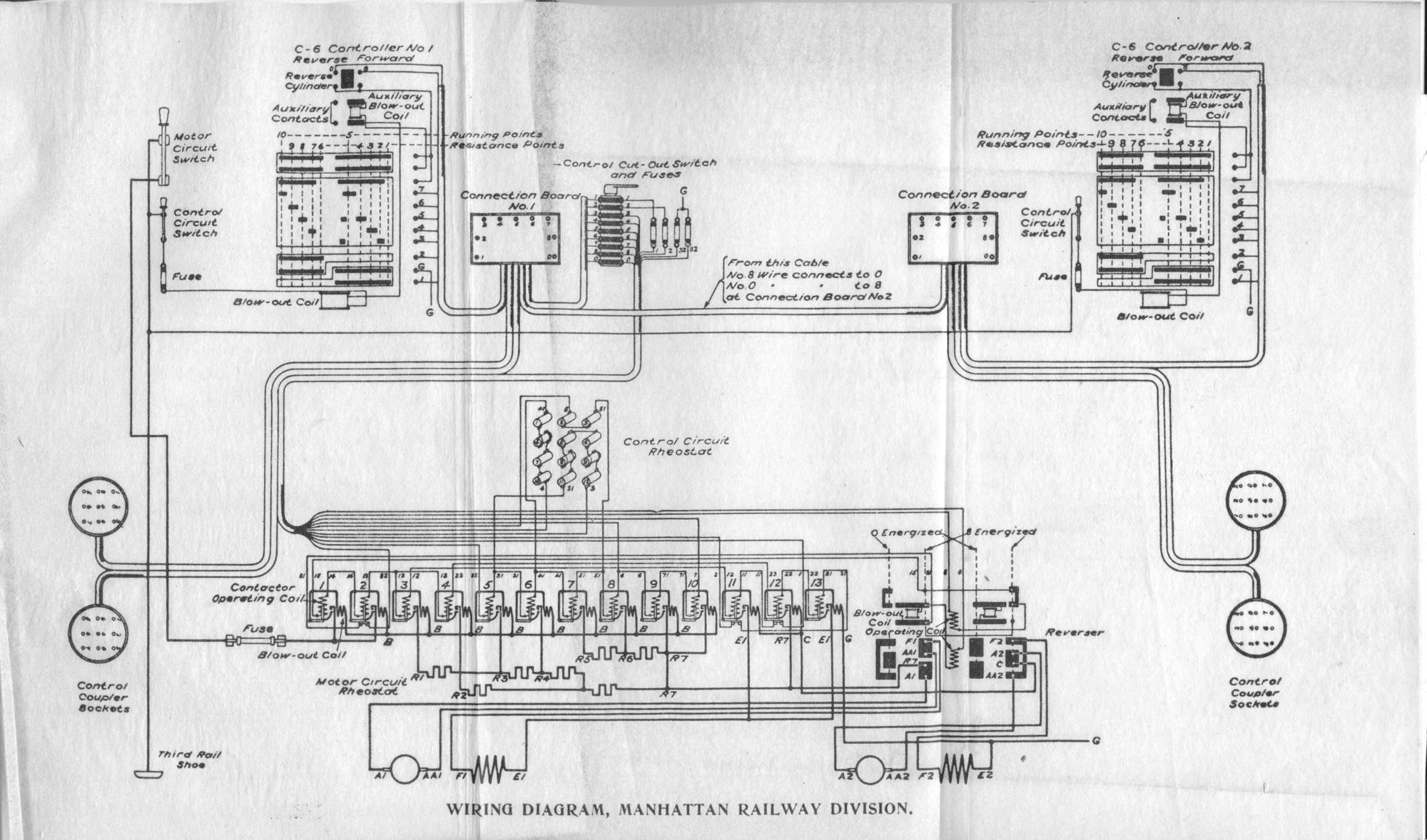 Electrical And Automatic Air Brake Equipment Forward Reverse Motor Wiring Diagram Furthermore Manhattan Railway Division