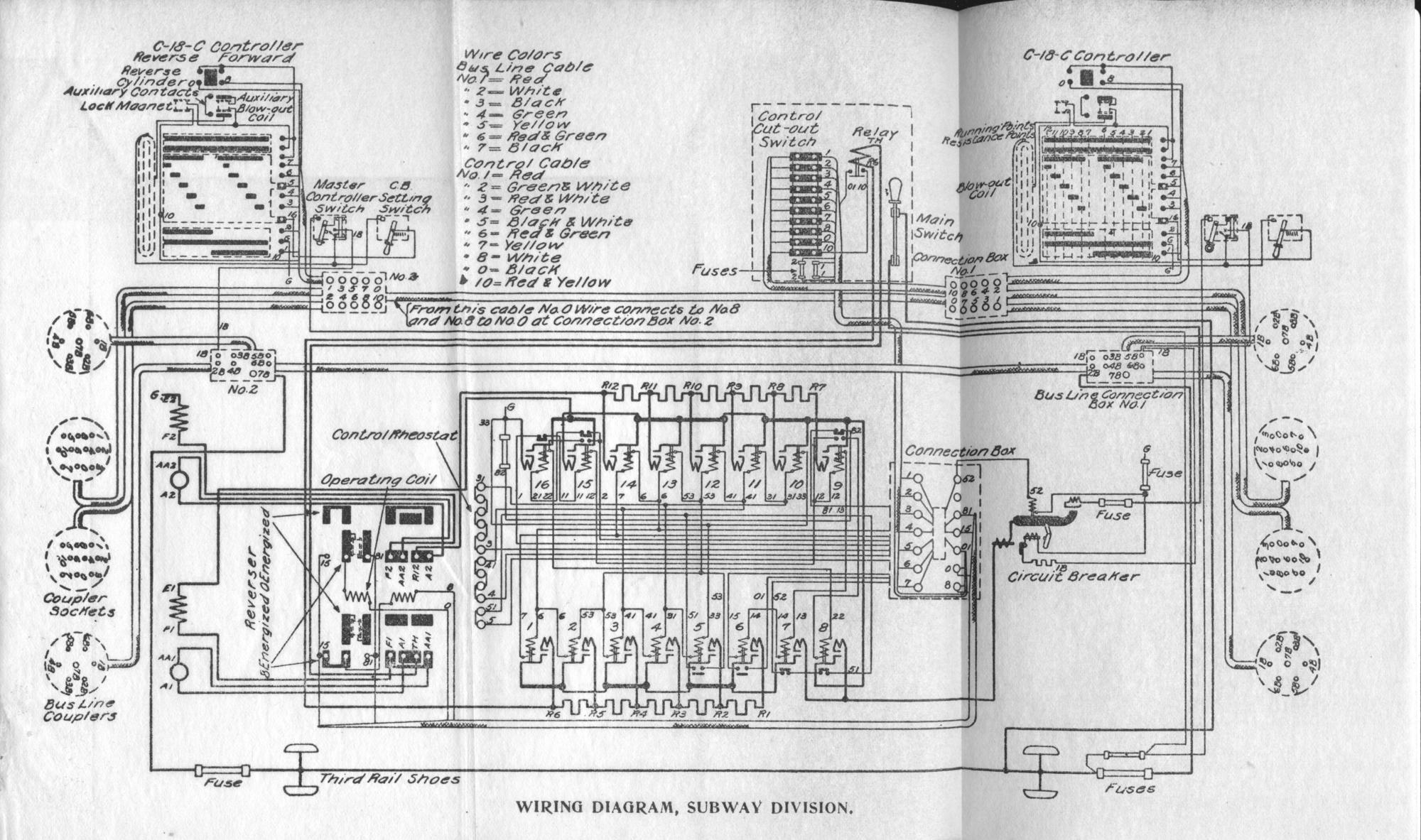 (click to enlarge). WIRING DIAGRAM, SUBWAY DIVISION.