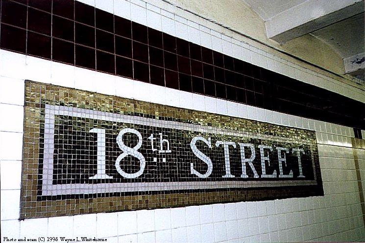 (122k, 745x497)<br><b>Country:</b> United States<br><b>City:</b> New York<br><b>System:</b> New York City Transit<br><b>Line:</b> IRT West Side Line<br><b>Location:</b> 18th Street <br><b>Photo by:</b> Wayne Whitehorne<br><b>Date:</b> 1998<br><b>Viewed (this week/total):</b> 0 / 7173