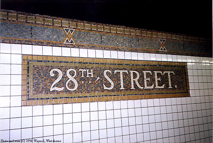 (107k, 747x501)<br><b>Country:</b> United States<br><b>City:</b> New York<br><b>System:</b> New York City Transit<br><b>Line:</b> IRT West Side Line<br><b>Location:</b> 28th Street <br><b>Photo by:</b> Wayne Whitehorne<br><b>Date:</b> 1998<br><b>Viewed (this week/total):</b> 2 / 3480