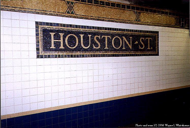 (89k, 748x502)<br><b>Country:</b> United States<br><b>City:</b> New York<br><b>System:</b> New York City Transit<br><b>Line:</b> IRT West Side Line<br><b>Location:</b> Houston Street <br><b>Photo by:</b> Wayne Whitehorne<br><b>Date:</b> 1998<br><b>Viewed (this week/total):</b> 5 / 3761
