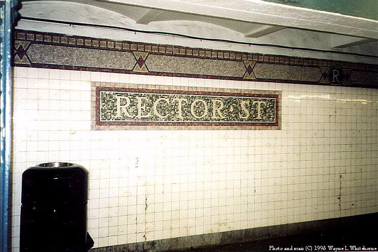 (87k, 744x496)<br><b>Country:</b> United States<br><b>City:</b> New York<br><b>System:</b> New York City Transit<br><b>Line:</b> IRT West Side Line<br><b>Location:</b> Rector Street <br><b>Photo by:</b> Wayne Whitehorne<br><b>Date:</b> 1998<br><b>Viewed (this week/total):</b> 5 / 4444