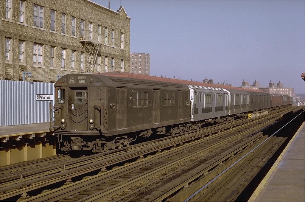 (242k, 1024x678)<br><b>Country:</b> United States<br><b>City:</b> New York<br><b>System:</b> New York City Transit<br><b>Line:</b> IRT White Plains Road Line<br><b>Location:</b> Allerton Avenue <br><b>Route:</b> 2<br><b>Car:</b> R-21 (St. Louis, 1956-57) 7113 <br><b>Photo by:</b> Joe Testagrose<br><b>Date:</b> 2/6/1971<br><b>Viewed (this week/total):</b> 1 / 3369