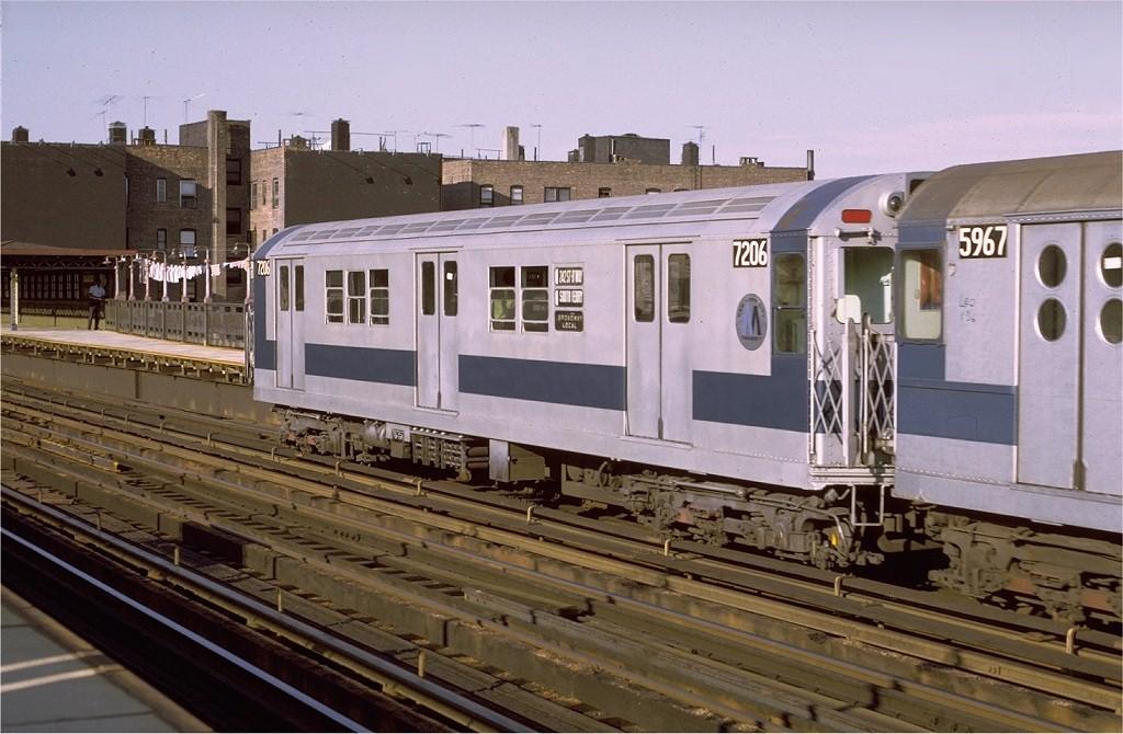 (195k, 1024x670)<br><b>Country:</b> United States<br><b>City:</b> New York<br><b>System:</b> New York City Transit<br><b>Line:</b> IRT West Side Line<br><b>Location:</b> 238th Street <br><b>Route:</b> 1<br><b>Car:</b> R-21 (St. Louis, 1956-57) 7206 <br><b>Photo by:</b> Joe Testagrose<br><b>Date:</b> 8/14/1971<br><b>Viewed (this week/total):</b> 0 / 2740