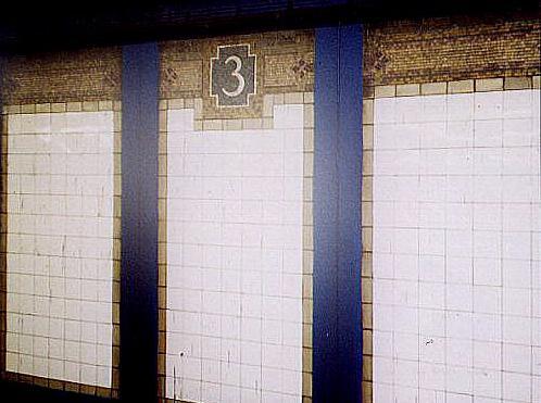 (34k, 498x371)<br><b>Country:</b> United States<br><b>City:</b> New York<br><b>System:</b> New York City Transit<br><b>Line:</b> IRT Pelham Line<br><b>Location:</b> 3rd Avenue/138th Street <br><b>Photo by:</b> Wayne Whitehorne<br><b>Date:</b> 10/3/1998<br><b>Notes:</b> Vickers mosaic-3rd Avenue-138th Street<br><b>Viewed (this week/total):</b> 0 / 3541
