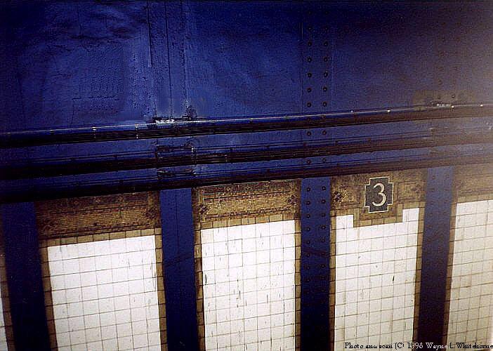 (83k, 702x500)<br><b>Country:</b> United States<br><b>City:</b> New York<br><b>System:</b> New York City Transit<br><b>Line:</b> IRT Pelham Line<br><b>Location:</b> 3rd Avenue/138th Street <br><b>Photo by:</b> Wayne Whitehorne<br><b>Date:</b> 10/3/1998<br><b>Notes:</b> Vickers mosaic-3rd Avenue-138th Street<br><b>Viewed (this week/total):</b> 5 / 3466