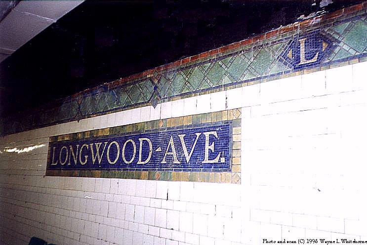 (78k, 743x496)<br><b>Country:</b> United States<br><b>City:</b> New York<br><b>System:</b> New York City Transit<br><b>Line:</b> IRT Pelham Line<br><b>Location:</b> Longwood Avenue <br><b>Photo by:</b> Wayne Whitehorne<br><b>Date:</b> 9/30/1998<br><b>Notes:</b> Longwood Avenue station tablet<br><b>Viewed (this week/total):</b> 2 / 3187