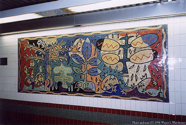 (125k, 744x500)<br><b>Country:</b> United States<br><b>City:</b> New York<br><b>System:</b> New York City Transit<br><b>Line:</b> IRT White Plains Road Line<br><b>Location:</b> 3rd Avenue/149th Street <br><b>Photo by:</b> Wayne Whitehorne<br><b>Date:</b> 9/30/1998<br><b>Artwork:</b> <i>Una Raza, Un Mundo, Universo (One Race, One World, One Universe)</i>, Jose Ortega (1996).<br><b>Viewed (this week/total):</b> 0 / 2290