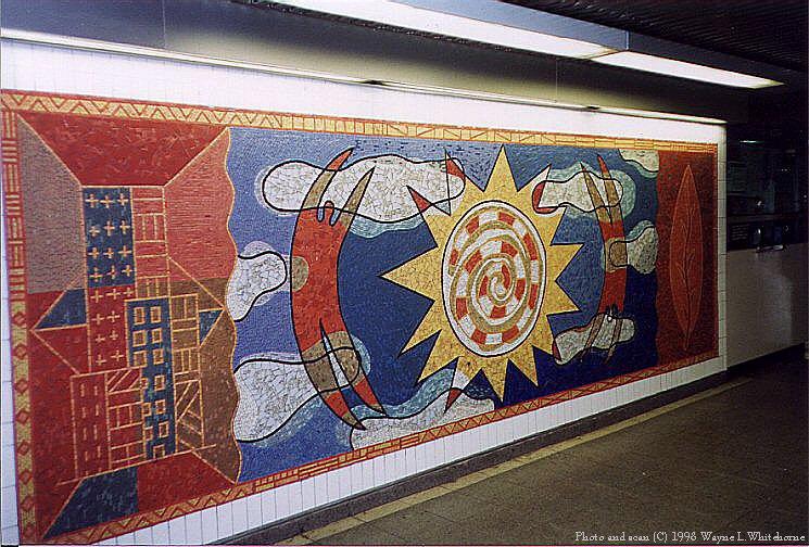 (122k, 745x504)<br><b>Country:</b> United States<br><b>City:</b> New York<br><b>System:</b> New York City Transit<br><b>Line:</b> IRT White Plains Road Line<br><b>Location:</b> 3rd Avenue/149th Street <br><b>Photo by:</b> Wayne Whitehorne<br><b>Date:</b> 9/30/1998<br><b>Artwork:</b> <i>Una Raza, Un Mundo, Universo (One Race, One World, One Universe)</i>, Jose Ortega (1996).<br><b>Viewed (this week/total):</b> 0 / 4097