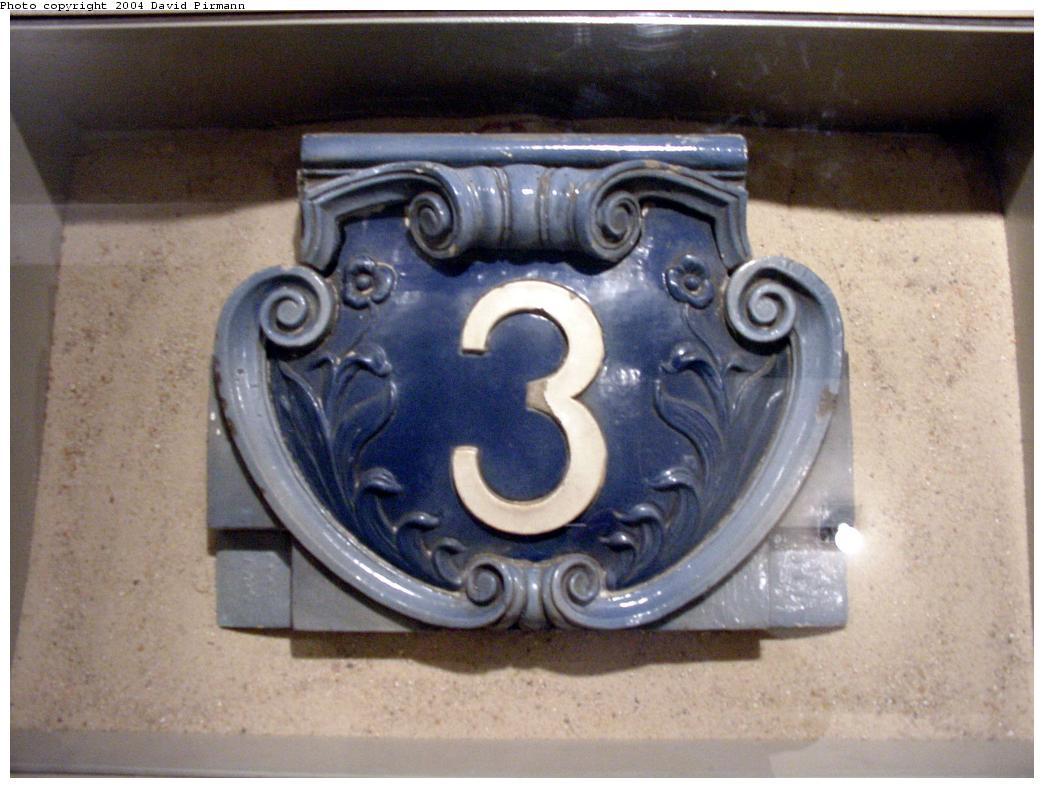 (113k, 1044x788)<br><b>Country:</b> United States<br><b>City:</b> New York<br><b>System:</b> New York City Transit<br><b>Location:</b> New York Transit Museum<br><b>Photo by:</b> David Pirmann<br><b>Date:</b> 6/18/2000<br><b>Notes:</b> 3rd Ave-149th Street IRT mosaic now at Transit Museum<br><b>Viewed (this week/total):</b> 1 / 7816