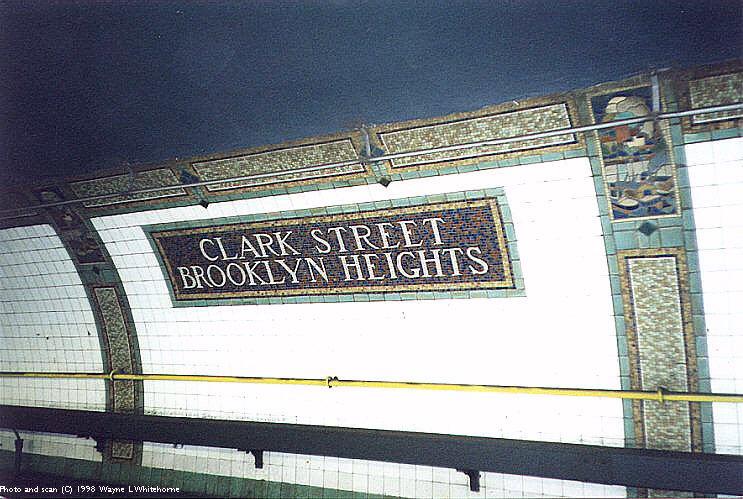 (97k, 743x499)<br><b>Country:</b> United States<br><b>City:</b> New York<br><b>System:</b> New York City Transit<br><b>Line:</b> IRT Brooklyn Line<br><b>Location:</b> Clark Street <br><b>Photo by:</b> Wayne Whitehorne<br><b>Date:</b> 3/21/1998<br><b>Viewed (this week/total):</b> 3 / 7910