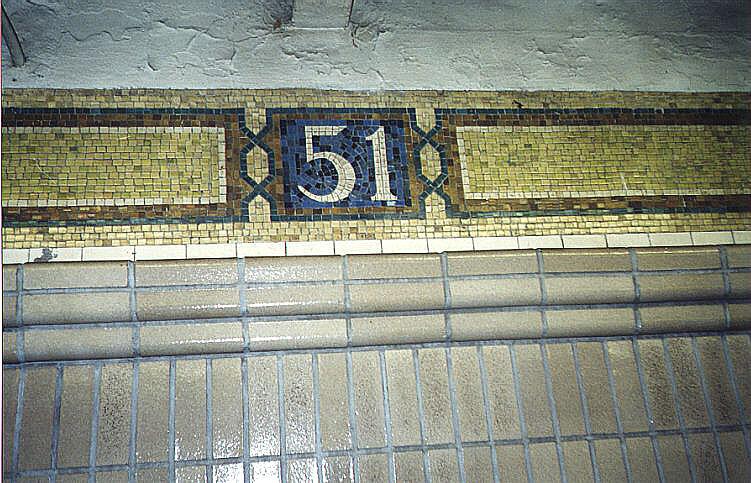 (125k, 751x483)<br><b>Country:</b> United States<br><b>City:</b> New York<br><b>System:</b> New York City Transit<br><b>Line:</b> IRT East Side Line<br><b>Location:</b> 51st Street <br><b>Photo by:</b> Wayne Whitehorne<br><b>Date:</b> 1/31/1998<br><b>Notes:</b> Restored icon<br><b>Viewed (this week/total):</b> 0 / 3041