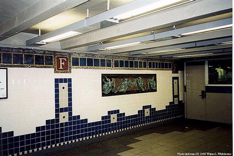 (100k, 745x497)<br><b>Country:</b> United States<br><b>City:</b> New York<br><b>System:</b> New York City Transit<br><b>Line:</b> IRT Brooklyn Line<br><b>Location:</b> Flatbush Avenue <br><b>Photo by:</b> Wayne Whitehorne<br><b>Date:</b> 2/28/1998<br><b>Artwork:</b> <i>Flatbush Floogies</i>, Muriel Castanis (1996).<br><b>Viewed (this week/total):</b> 3 / 5458