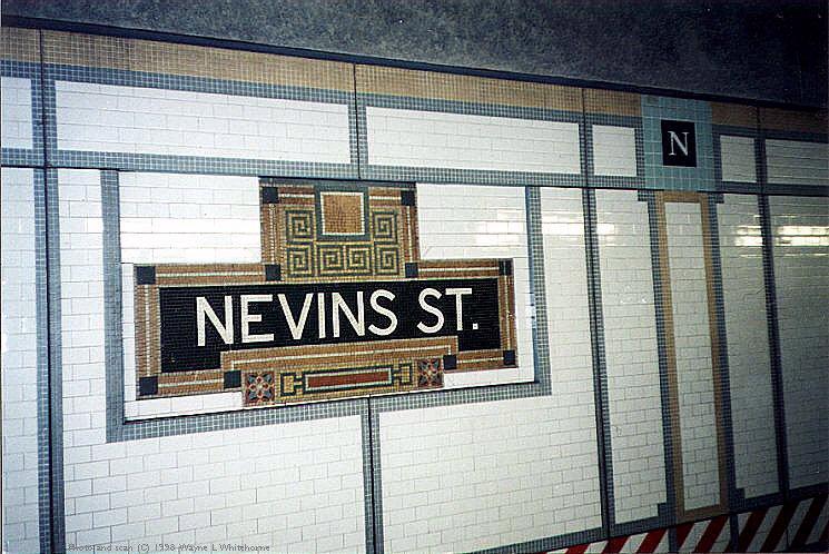 (105k, 745x498)<br><b>Country:</b> United States<br><b>City:</b> New York<br><b>System:</b> New York City Transit<br><b>Line:</b> IRT Brooklyn Line<br><b>Location:</b> Nevins Street <br><b>Photo by:</b> Wayne Whitehorne<br><b>Date:</b> 1/31/1998<br><b>Notes:</b> Nevins Street-original tablet<br><b>Viewed (this week/total):</b> 7 / 10332