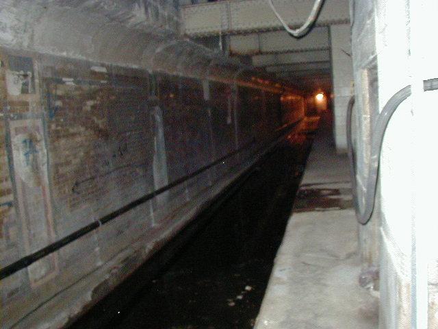 (63k, 640x480)<br><b>Country:</b> United States<br><b>City:</b> New York<br><b>System:</b> New York City Transit<br><b>Line:</b> IRT Brooklyn Line<br><b>Location:</b> Nevins Street Lower Level <br><b>Photo by:</b> David Justiniano<br><b>Date:</b> 12/3/2001<br><b>Notes:</b> Unused lower level<br><b>Viewed (this week/total):</b> 6 / 36115