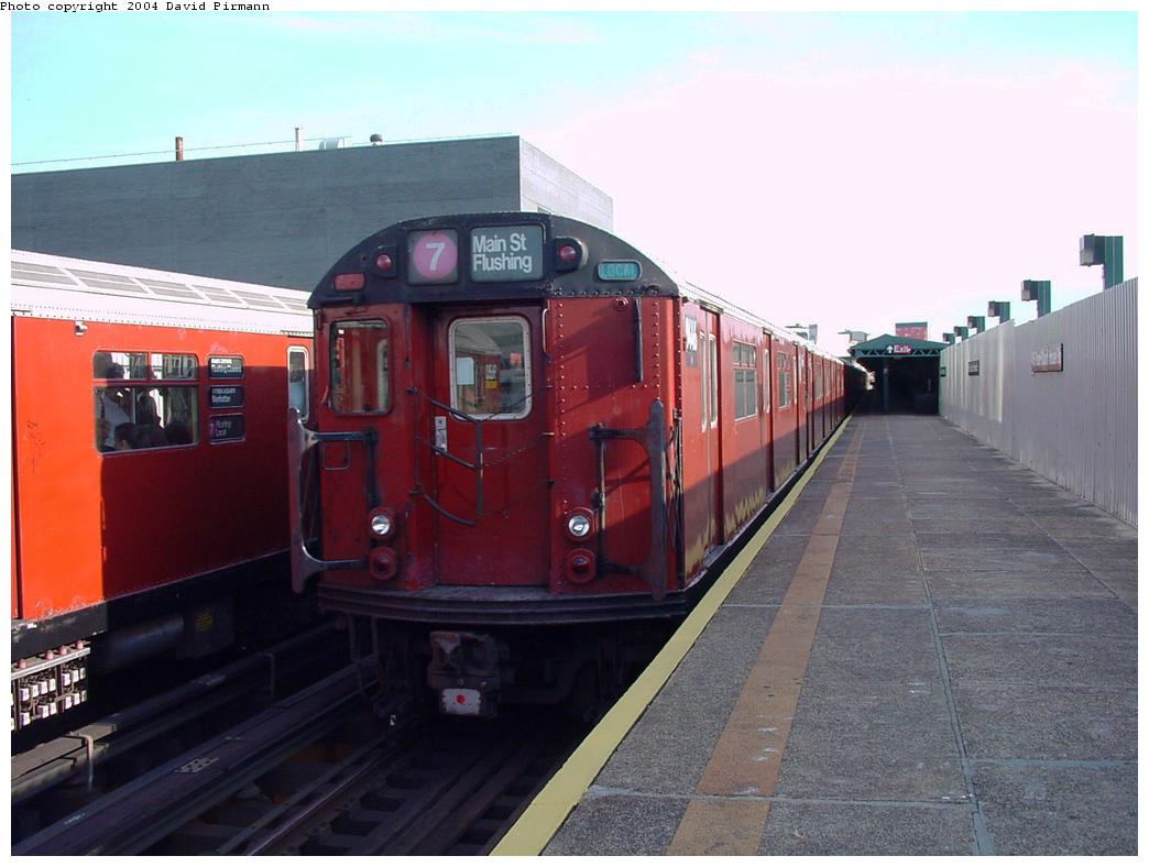 (104k, 1044x788)<br><b>Country:</b> United States<br><b>City:</b> New York<br><b>System:</b> New York City Transit<br><b>Line:</b> IRT Flushing Line<br><b>Location:</b> Court House Square/45th Road <br><b>Route:</b> 7<br><b>Car:</b> R-36 World's Fair (St. Louis, 1963-64) 9446 <br><b>Photo by:</b> David Pirmann<br><b>Date:</b> 7/16/2001<br><b>Viewed (this week/total):</b> 2 / 2869