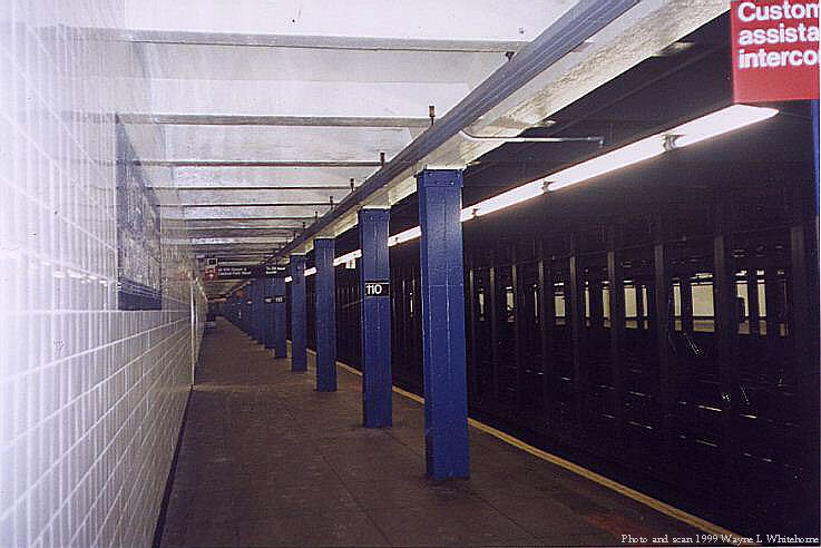 (64k, 737x492)<br><b>Country:</b> United States<br><b>City:</b> New York<br><b>System:</b> New York City Transit<br><b>Line:</b> IND 8th Avenue Line<br><b>Location:</b> 110th Street/Cathedral Parkway <br><b>Photo by:</b> Wayne Whitehorne<br><b>Date:</b> 8/14/1999<br><b>Viewed (this week/total):</b> 16 / 6100
